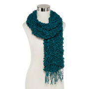 Solid Tufted Bubble Oblong Scarf