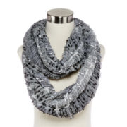 Multi-Bubble Tufted Infinity Scarf