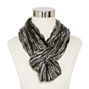 Chevron Pleated Loop Scarf