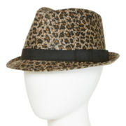 Scala™ Animal-Print Fedora