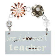 Messages from the Heart® by Sandra Magsamen® Teacher Hanging Plaque