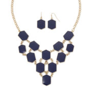 Mixit™ Navy Blue Bead Earring and Necklace Set