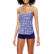 Stylus™ Twist Tankini Swim Top or Boyshort Swim Bottoms
