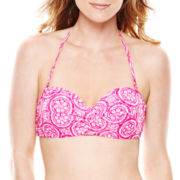 Stylus™ Print Push-Up Bandeau Swim Top