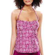 Stylus™ Print Twist Tankini Swim Top