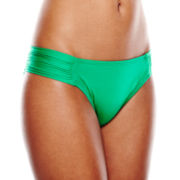 Stylus™ Shirred Side-Tab Hipster Swim Bottoms