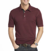 Van Heusen® Short-Sleeve Two-Tone Slub Polo