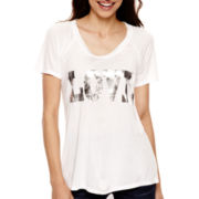 a.n.a® Short-Sleeve Scoopneck T-Shirt - Petite