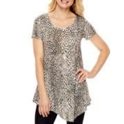 a.n.a® Short-Sleeve Asymmetrical T-Shirt