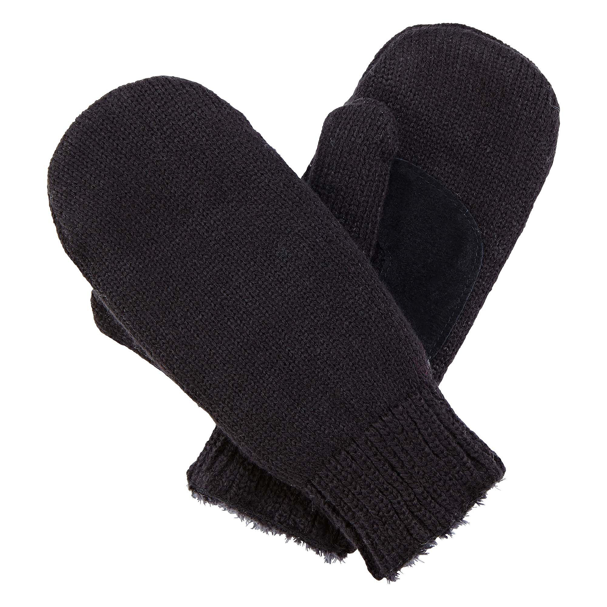Isotoner Knit Mittens with Mircroluxe Lining