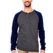 St. John's Bay® Long-Sleeve Baseball Henley
