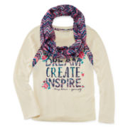 Self Esteem® Sweater and Scarf - Girls 7-16 and Plus