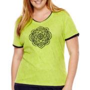 Made For Life™ Short-Sleeve Sienna Medallion T-Shirt - Plus