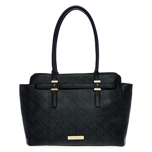 Liz Claiborne Tuxedo Tote Bag