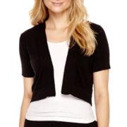 R&K Originals® Short-Sleeve Lace-Back Shrug