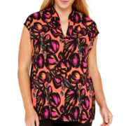 Worthington® V-Neck Tunic Blouse - Plus