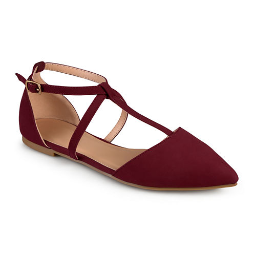 Journee Collection Keiko Ankle-Strap Ballet Flats