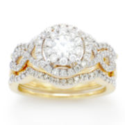 1 1/4 CT. T.W. White Diamond 14K Gold Cocktail Ring