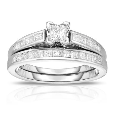 jcpenney.com | Womens 1 CT. T.W. Princess White Diamond 14K Gold Engagement Ring