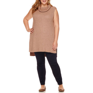 jcpenney.com | Stylus™ Sleeveless Turtleneck Tunic Sweater or Perfect Skinny Jeans - Plus