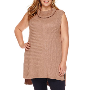 jcpenney.com | Stylus™ Sleeveless Turtleneck Tunic Sweater - Plus