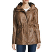 Mo-Ka Long-Sleeve Faux-Leather Anorak Jacket