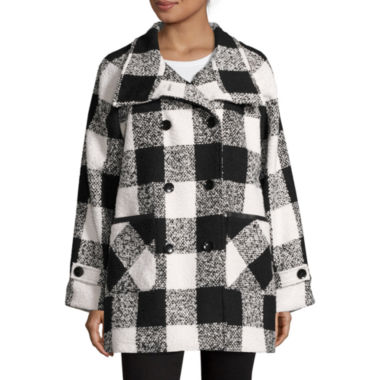 jcpenney.com | KC Collections Plaid Walker Coat