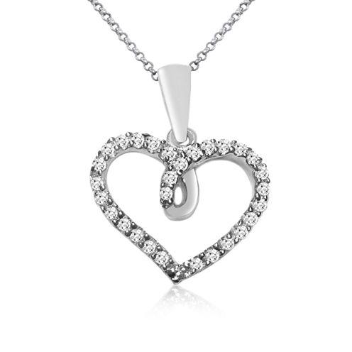 Womens 1/7 CT. T.W. White Diamond 10K Gold Pendant Necklace