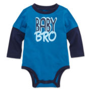 Okie Dokie® Long-Sleeve Doubler Bodysuit - Baby Boys newborn-24m