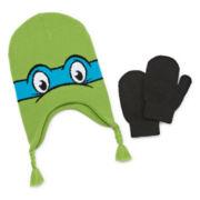 Teenage Mutant Ninja Turtles Reversible Hat and Glove Set - Toddler Boys 2t-4t