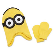 Reversible Minion Hat and Mitten Set - Toddler Boys 2t-4t