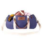 Personalized Canvas and Leather Duffel Bag