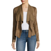 a.n.a® Faux-Suede Front-Draped Jacket