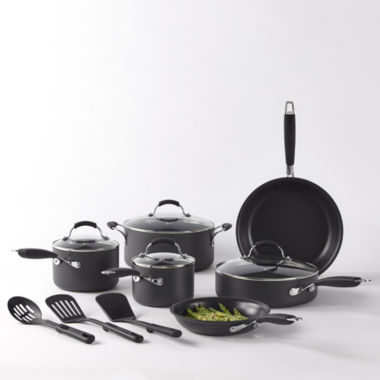 jcpenney.com | Cooks 13-pc. Classic Dishwasher-Safe Hard-Anodized Nonstick Cookware Set