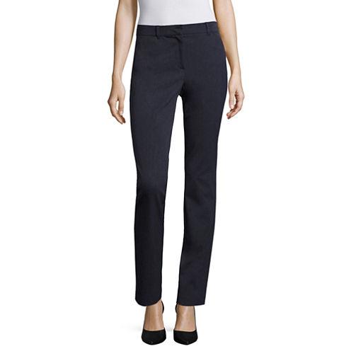 Liz Claiborne® Bi-Stretch Slim-Leg Pants