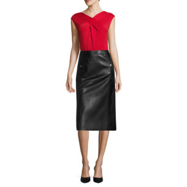 jcpenney.com | Liz Claiborne® Criss-Cross Top or Faux-Leather A-Line Skirt