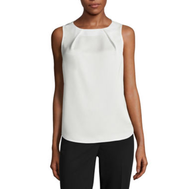 jcpenney.com | Liz Claiborne® Sleeveless Pleated Shell