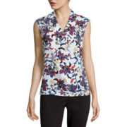 Liz Claiborne® Sleeveless Printed Shell Blouse