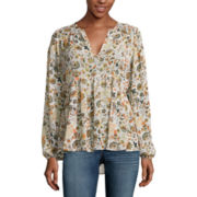 a.n.a® V-Neck Peasant Blouse