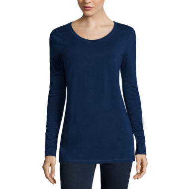 jcpenney.com | a.n.a® Long-Sleeve Essential Tee - Tall