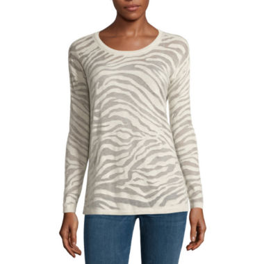 jcpenney.com | a.n.a® Animal Burnout Sweater - Tall