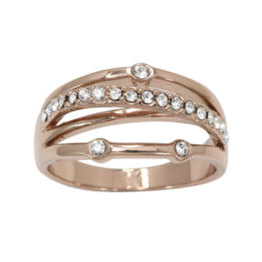 jcpenney.com | city x city® Rose Gold-tone Cubic Zirconia Stacking Ring