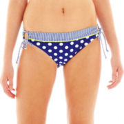 Arizona Dot/Stripe Keyhole Hipster Swim Bottoms