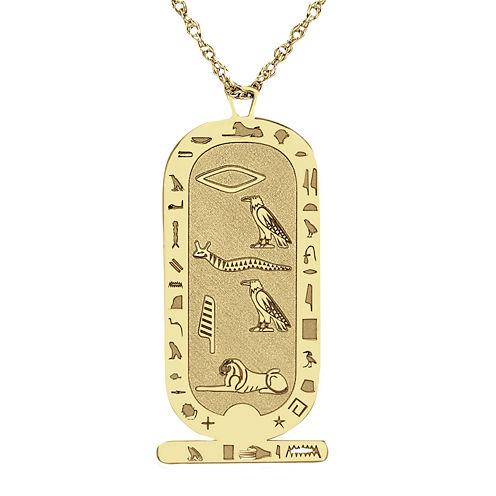 Personalized Hieroglyphic Pendant Necklace