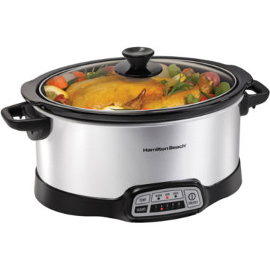 jcpenney.com | Hamilton Beach® 7-qt. Programmable Oval Slow Cooker