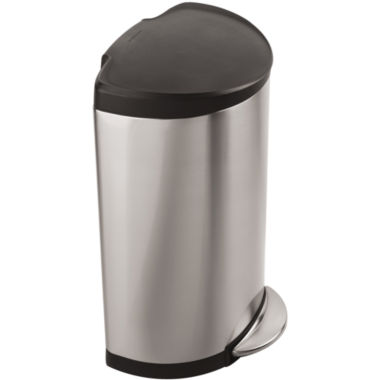 jcpenney.com | simplehuman® 40-Liter Semi-Round Stainless Steel Step Trash Can