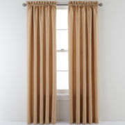 Sutton Place Antique Satin Rod-Pocket Curtain Panel