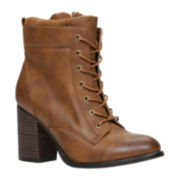 Call It Spring™ Madray High Heel Womens Lace-Up Booties