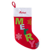 North Pole Trading Co. Monogrammed Holiday Glitz Stocking