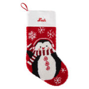 North Pole Trading Co. Monogrammed Penguin Stocking